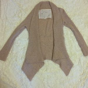 Anthropologie, oatmeal colored wool-blend cardigan